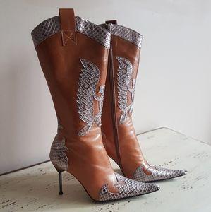 ❤Bronx❤ Camel Cowboy boots